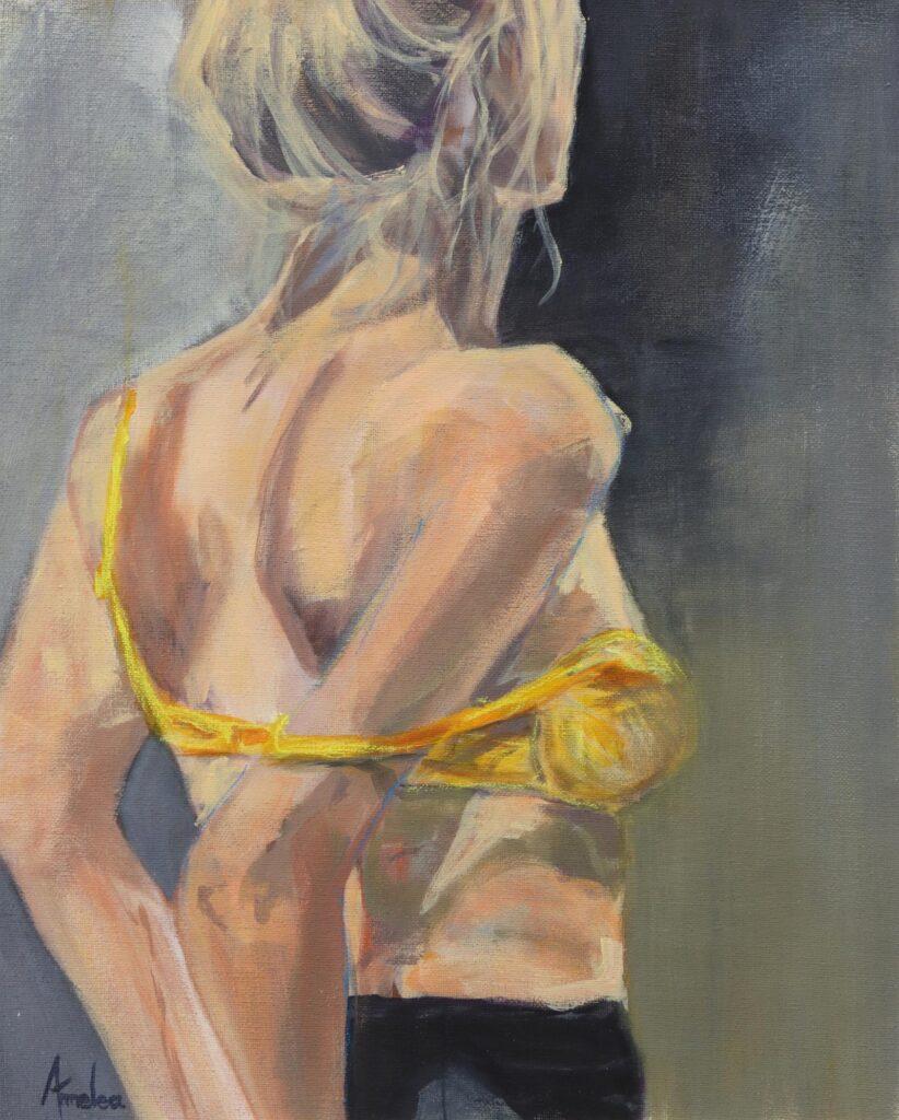 Yellow Bikini Top
